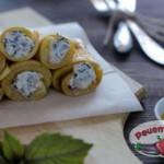 Сырные рулеты из кабачка