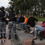 Несогласованная акция в центре Москвы. Главное :: Политика :: РБК