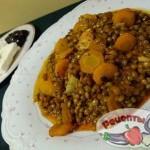 Чечевица «яхния» с ароматной морковью